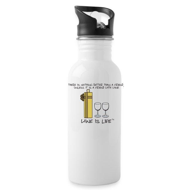 Friend With Wine - Water Bottle