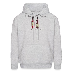 Two Reds - Mens Hooded Sweatshirt - Men's Hoodie
