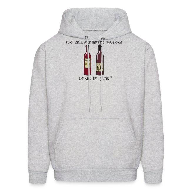 Two Reds - Mens Hooded Sweatshirt