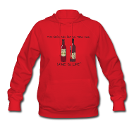 Hoodies ~ Women's Hoodie ~ Two Reds - Womens Hooded Sweatshirt