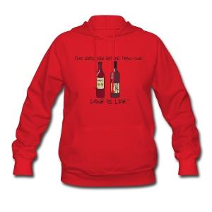 Two Reds - Womens Hooded Sweatshirt - Women's Hoodie