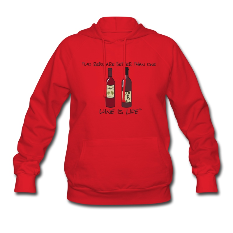 Two Reds - Womens Hooded Sweatshirt - Women's Hoodie