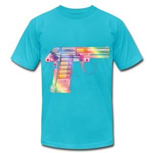 Rainbow Gun  - Men's Fine Jersey T-Shirt