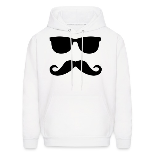 Moustache & Glasses Hoody  - Men's Hoodie