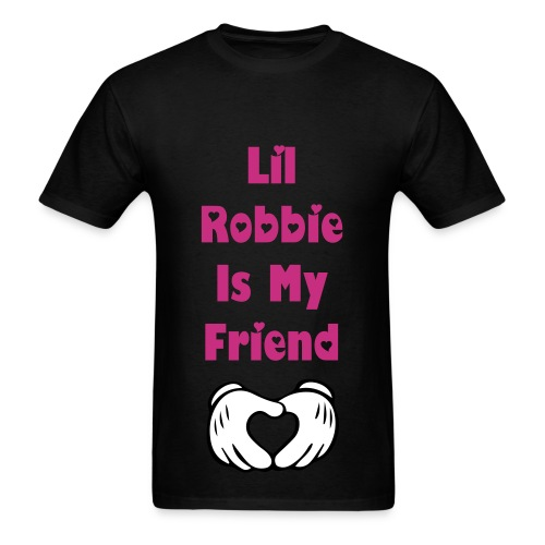Lil Robbie Is My Friend T Shirt Pink Letters - Men's T-Shirt