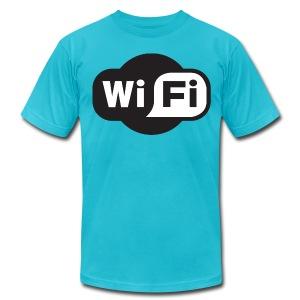 wifi - Men's Fine Jersey T-Shirt