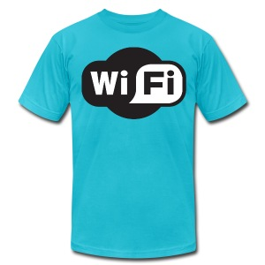 wifi - Men's T-Shirt by American Apparel