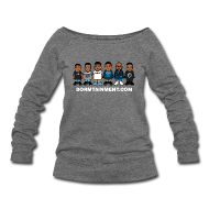 Long Sleeve Shirts ~ Women's Wideneck Sweatshirt ~ Character Wideneck Sweatshirt