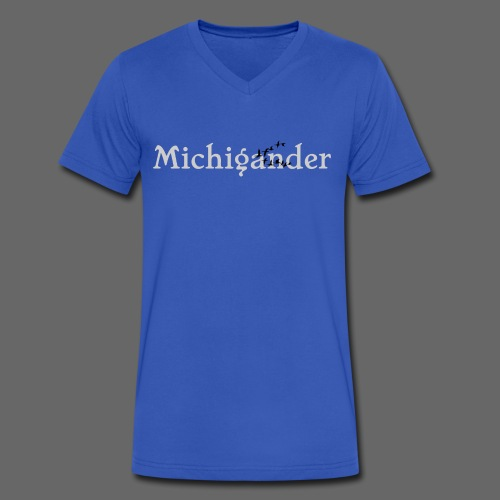 Michigander - Men's V-Neck T-Shirt by Canvas