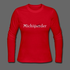 Michigander - Women's Long Sleeve Jersey T-Shirt