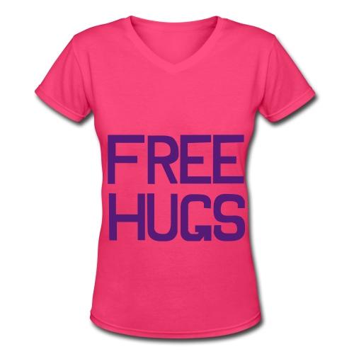 Free Hugs - Women's V-Neck T-Shirt