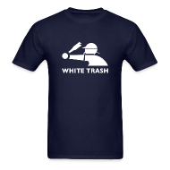 T-Shirts ~ Men's T-Shirt ~ White Trash Socks (Navy)