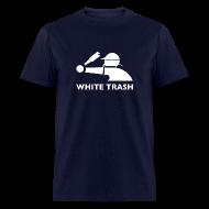 T-Shirts ~ Men's T-Shirt ~ White Trash Socks (Navy)