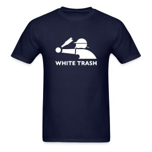 White Trash Socks (Navy) - Men's T-Shirt
