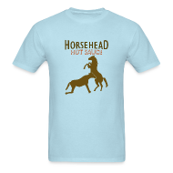 T-Shirts ~ Men's T-Shirt ~ Horsehead Hot Sauce (Blue)