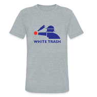 T-Shirts ~ Unisex Tri-Blend T-Shirt by American Apparel ~ White Trash Socks