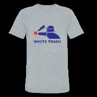 T-Shirts ~ Unisex Tri-Blend T-Shirt ~ White Trash Socks