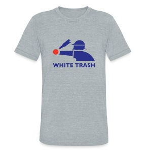 White Trash Socks - Unisex Tri-Blend T-Shirt by American Apparel