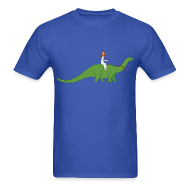 T-Shirts ~ Men's T-Shirt ~ Jesus Riding a Brontosaurus