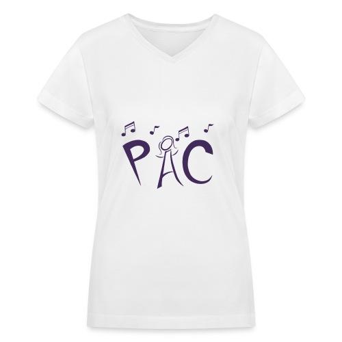 V Neck Tee - Purple Logo - Women's V-Neck T-Shirt