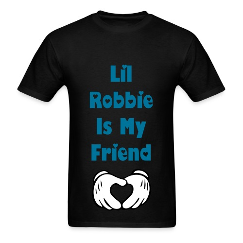 Lil Robbie Is My Friend T Shirt Blue Letters - Men's T-Shirt