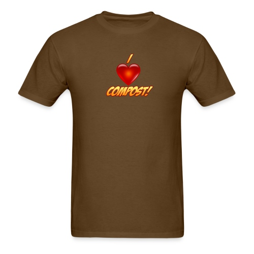 Men's I Heart Compost! Shirt - Men's T-Shirt