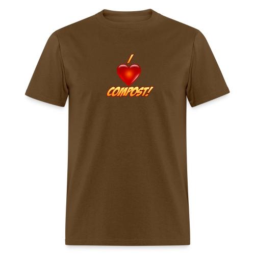 Men's I Heart Compost! Shirt - Men's T-Shirt