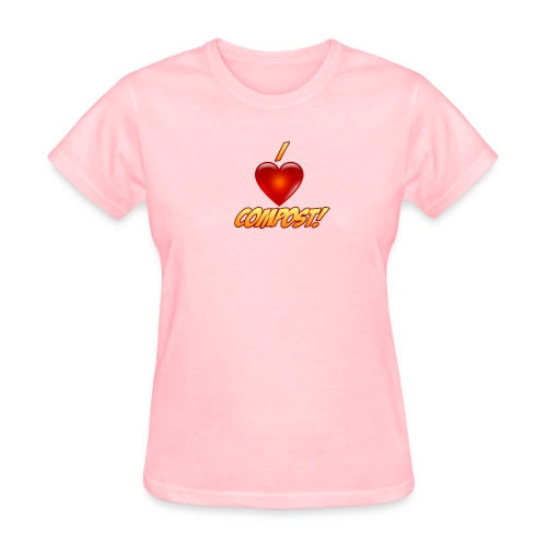 Ladies I Heart Compost! Shirt - Women's T-Shirt