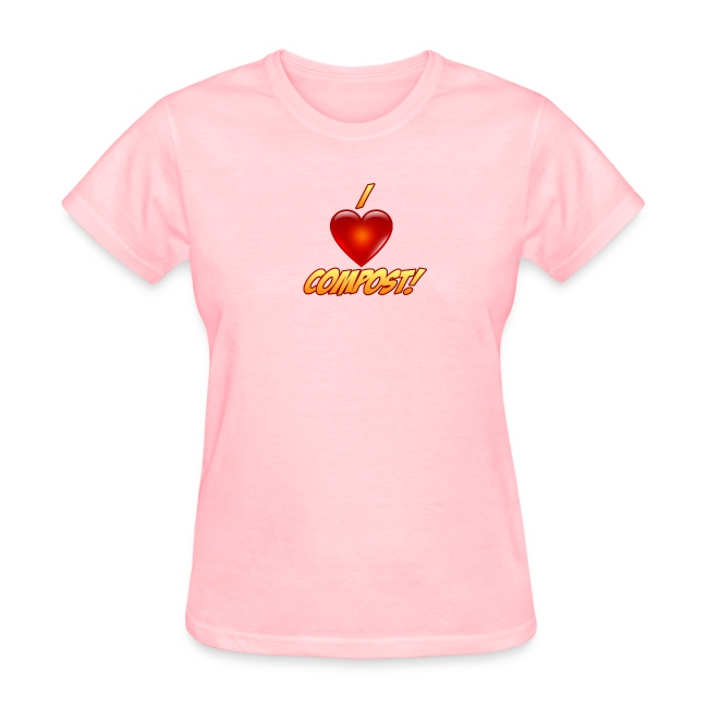 Ladies I Heart Compost! Shirt