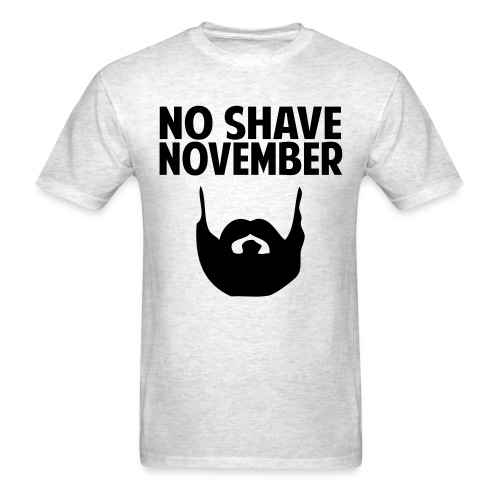 No Shave November Grizz Squad - Men's T-Shirt