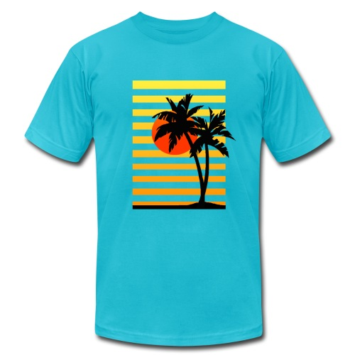 Palm Island Sunset - Men's Fine Jersey T-Shirt