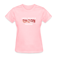 T-Shirts ~ Women's T-Shirt ~ Love, Peace & Bacon Grease Ladies