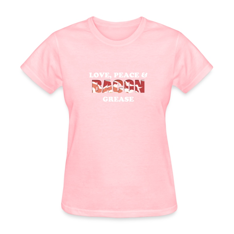 Love, Peace & Bacon Grease Ladies - Women's T-Shirt