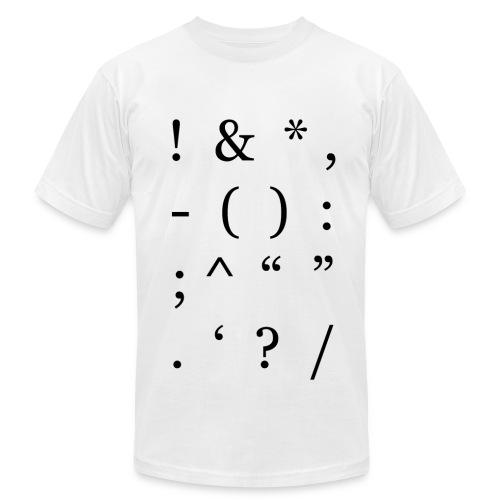 Black Punctuation Men's - Men's Jersey T-Shirt