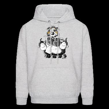 Australian Shepherd and sheep - Dog Hoodies