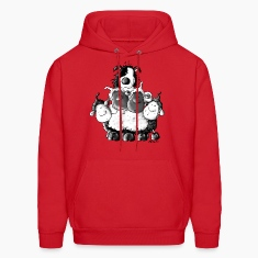 Border Collie and sheep - dog  Hoodies