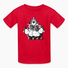 Bearded Collie and sheep - Herding dog design Kids' Shirts