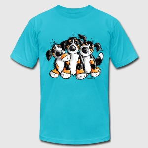 Bernese Mountain Dogs - Dog T-Shirts - Men's T-Shirt by American Apparel