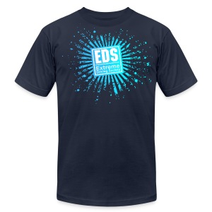 EDS Banzai (Blue Crush on Navy) - Men's T-Shirt by American Apparel