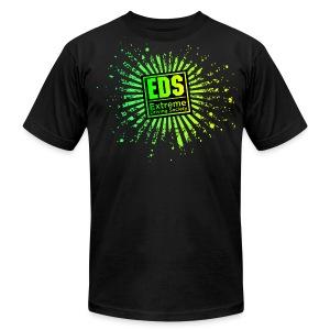 EDS Banzai (Lime on Black) - Men's Fine Jersey T-Shirt
