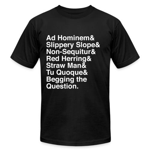 White Logical Fallacies Men's - Men's Jersey T-Shirt