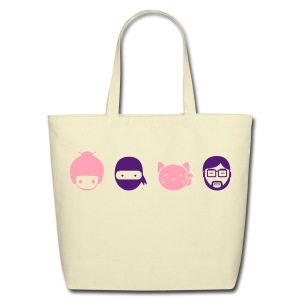 Modern Vector Family - Eco-Friendly Cotton Tote