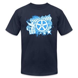 EDS Drive Hard, Play Hard (Navy) - Men's Fine Jersey T-Shirt