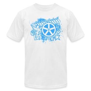 EDS Drive Hard, Play Hard (White) - Men's Fine Jersey T-Shirt