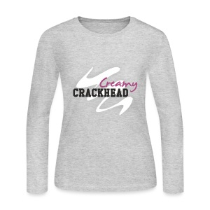Creamy Crackhead Women's T Shirt - Women's Long Sleeve Jersey T-Shirt