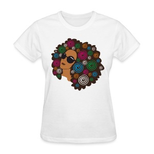 Big Bold Afro Women's T Shirt - Women's T-Shirt