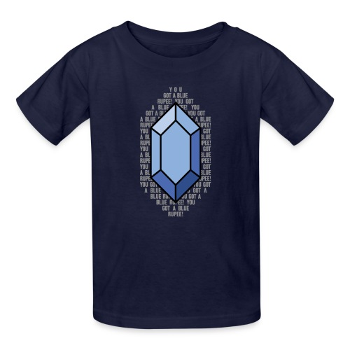 Blue Rupee (Youth) - Kids' T-Shirt