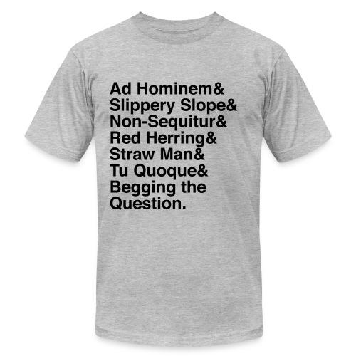 Black Logical Fallacies Men's - Men's Jersey T-Shirt