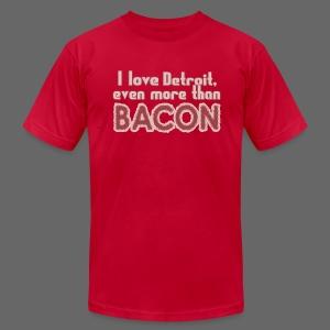 Detroit more than Bacon - Men's Fine Jersey T-Shirt
