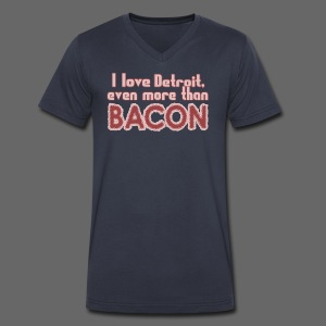 Detroit more than Bacon - Men's V-Neck T-Shirt by Canvas